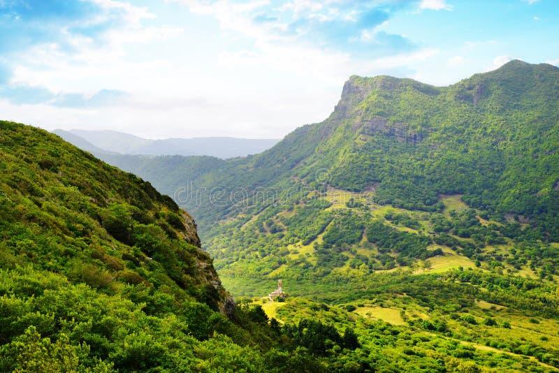 Highest mountain of Mauritius island Piton de la petite riviere noire. stock photography