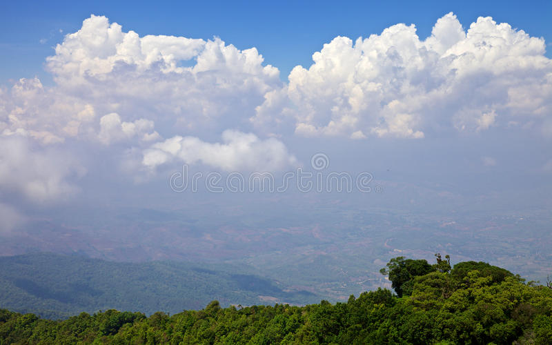 View from the highest mountain in Thailand in Doi Inthanon national park. Amazing view from highest mountain in Doi Inthanon national park. View of the earth stock image
