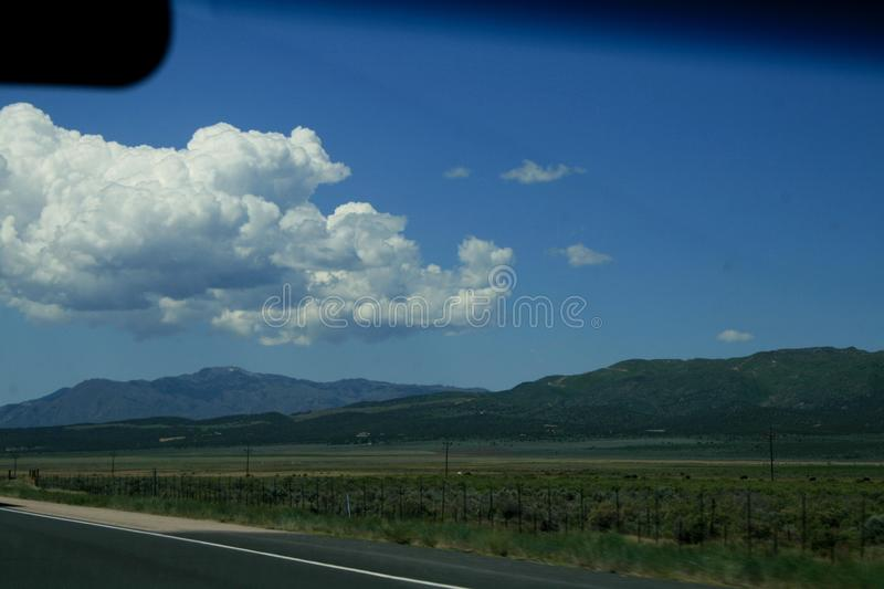 View from the highway on mountains Utah royalty free stock image