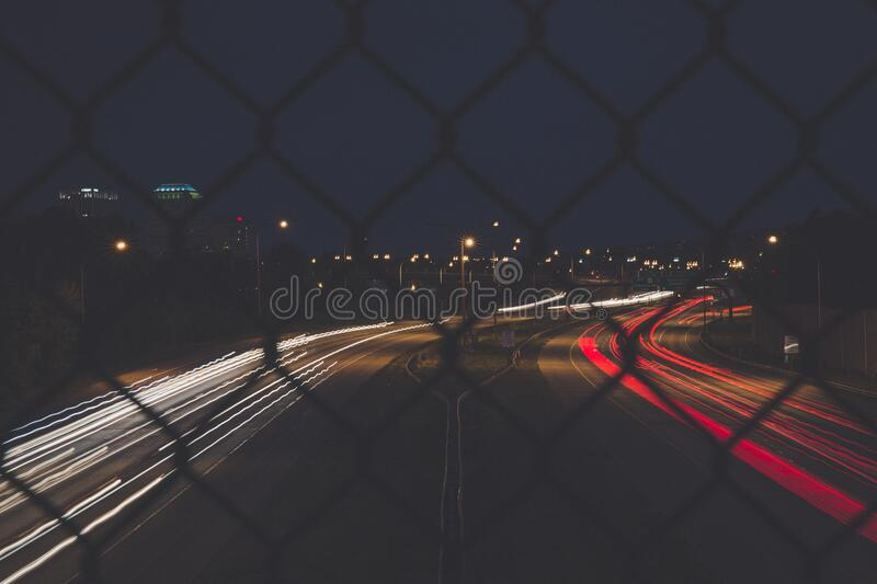 View Of Highway At Night From A Bridge Free Public Domain Cc0 Image