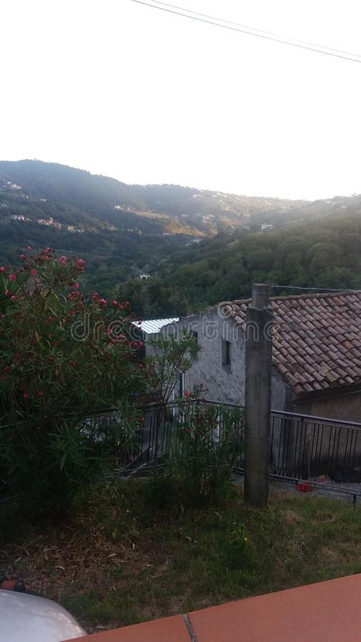 View from the hills of south italy stock image