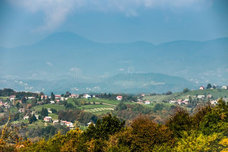 View of hills in Zagorje stock photos