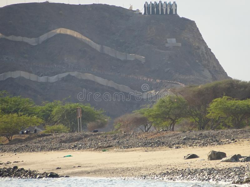 Mountains in Fujairah - United Arab Emirates royalty free stock photos
