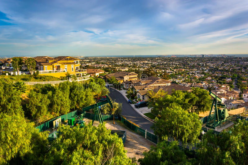 View from Hilltop Park, in Signal Hill, Long Beach royalty free stock image