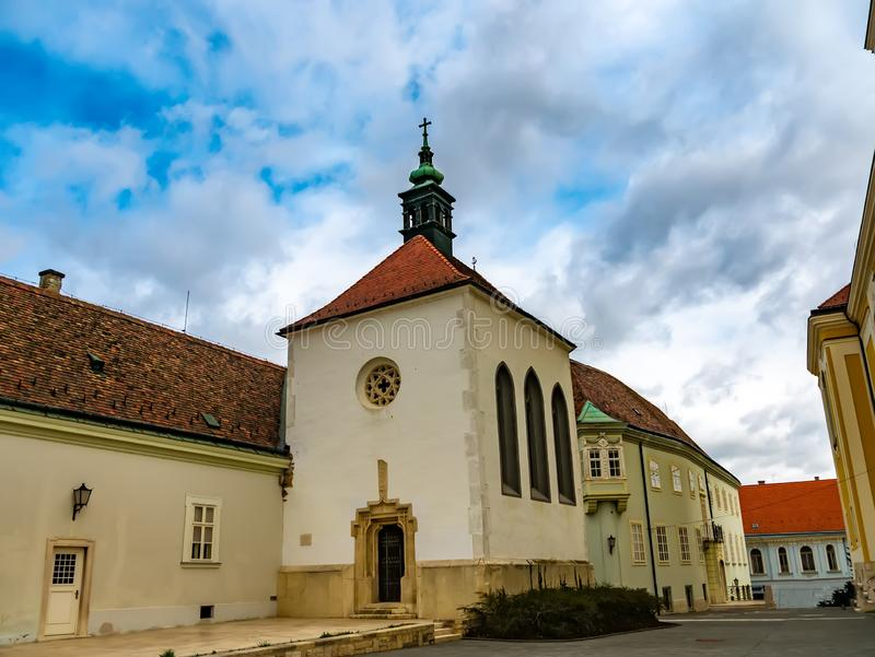 View on the Saint Anne Chapel in Szekesfehervar royalty free stock photo