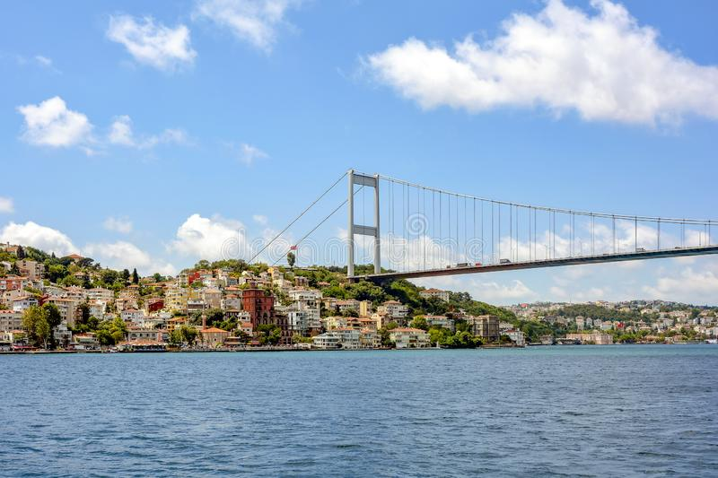 View of the historic city of Istanbul and its buildings. On the banks of the Bosphorus stock image