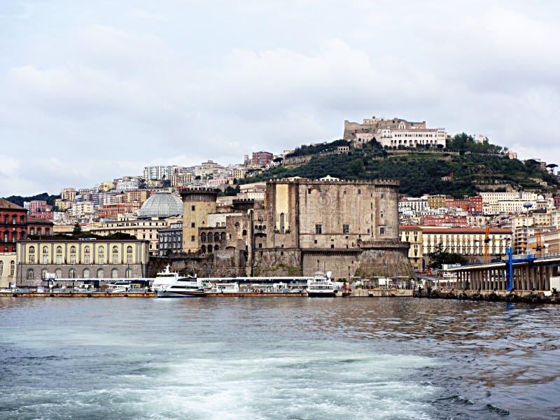 Naples sea castle stock images