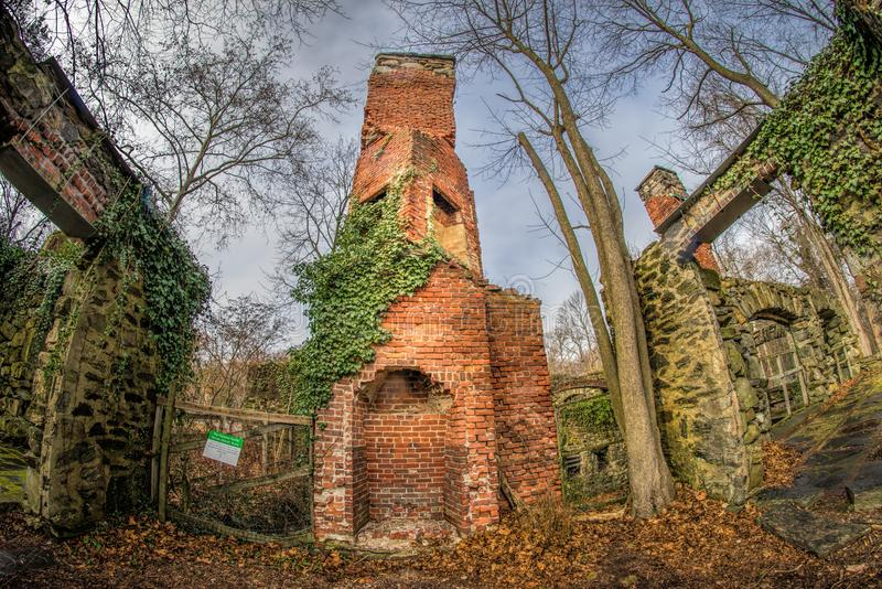 View of Historic Mansion Ruins royalty free stock image
