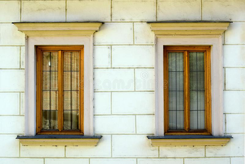 Small windows in Prague stock images