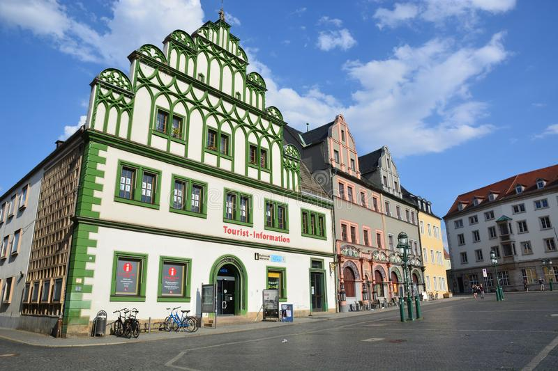View In the historical city of Weimar , Thuringia, Germany. View in the historical city of Weimar, Thuringia, Germany stock photo