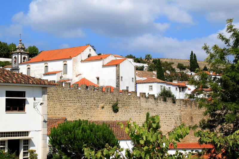 Download View Of Historical Fortress Obidos, Portugal Stock Photography - Image: 19070012