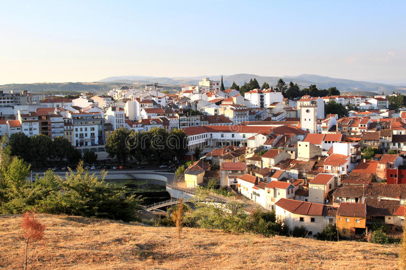 View of the historical town of Braganca, Portugal stock photos