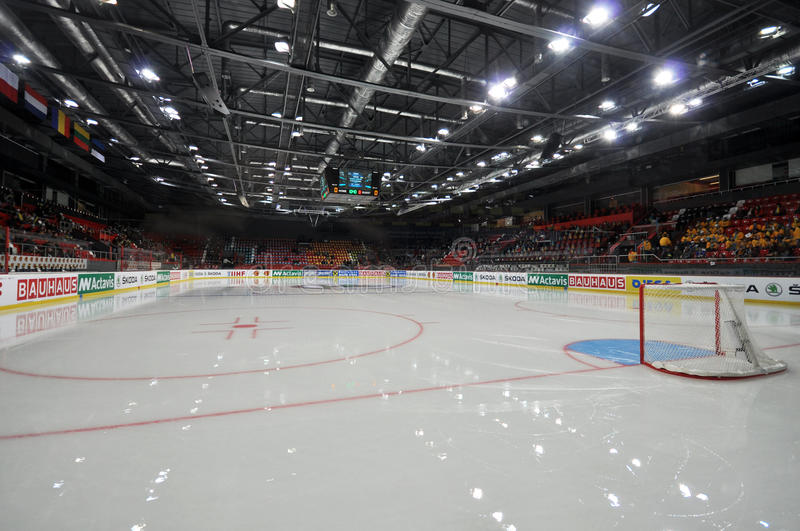 view of the hockey field before world cup match between teams romania and ukraine division i group b april ds royalty free stock photos