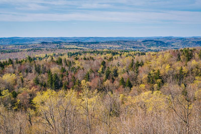 View from Hogback Mountain in Marlboro, Vermont.  stock image