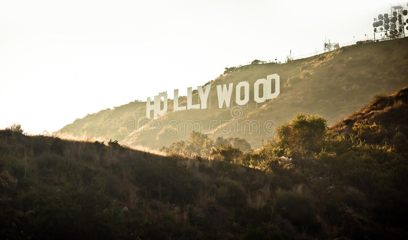View of Hollywood sign in Los Angeles royalty free stock photography