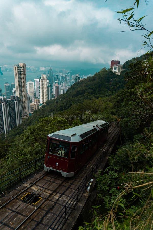 Hong Kong peak tram royalty free stock photography