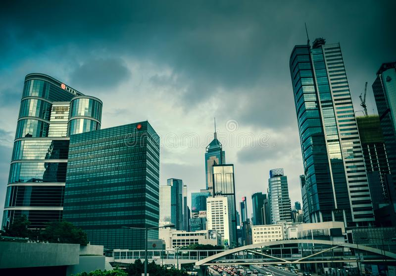 A view of Hong Kong`s Skyscrapers royalty free stock photography