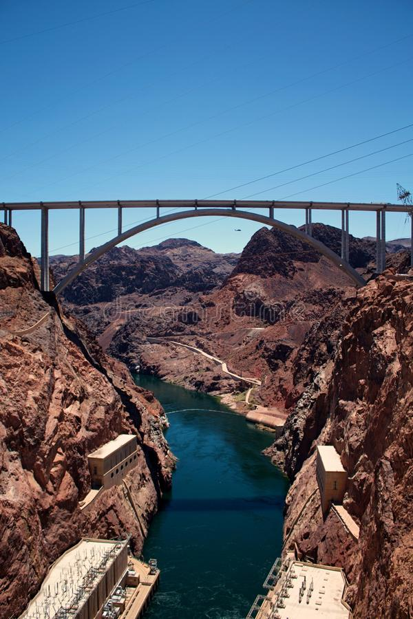 View from the Hoover Dam. Nevada, United States of America royalty free stock image