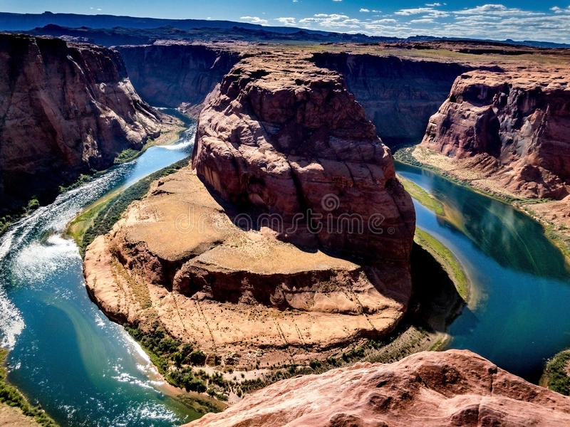 View From Horseshoe Bend royalty free stock photos
