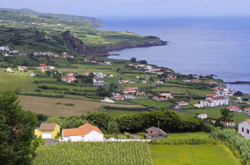 The view of Horta Bay, Faial stock photo