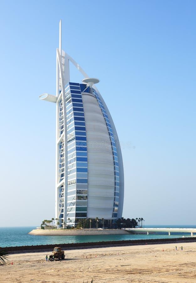 The view on hotel Burj Al Arab royalty free stock photos