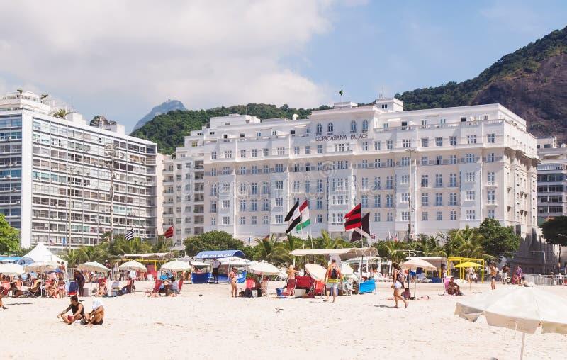 View of hotel Copacabana Palace in Rio de Janeiro royalty free stock photo