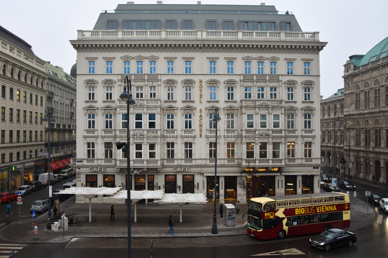 View of the Hotel Sacher stock photography