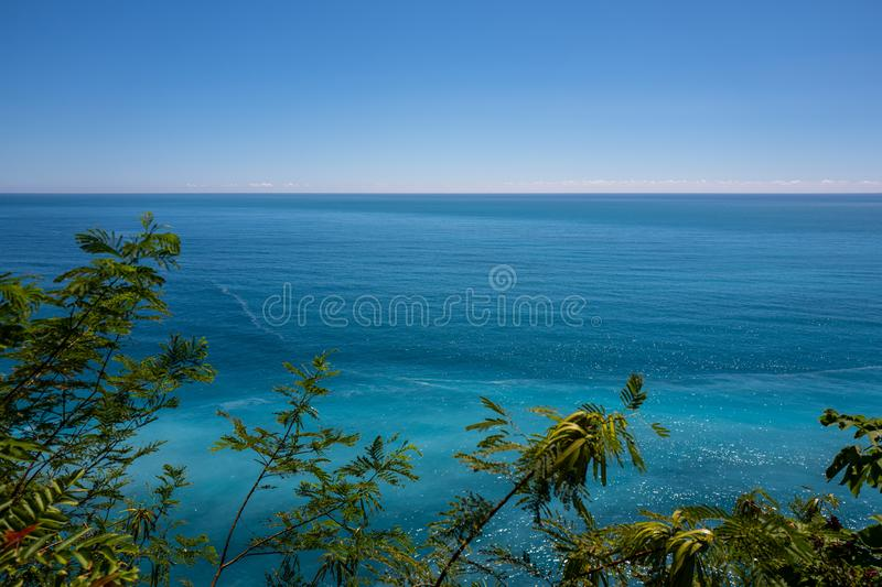 View at the Hualien coastline near Taroko Gorge National Park in Taiwan royalty free stock image