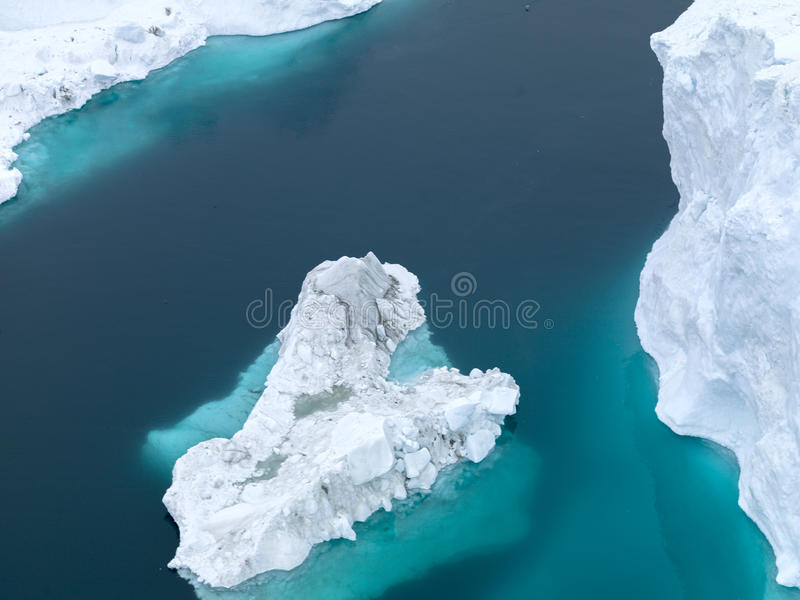 View of the huge icebergs in Greenland royalty free stock photos