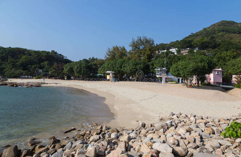 View of Hung Shing Yeh Beach Lamma Island.  stock photos
