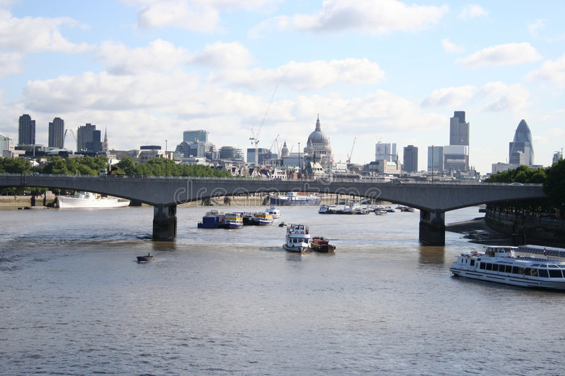 View from Hungerford bridge royalty free stock photography