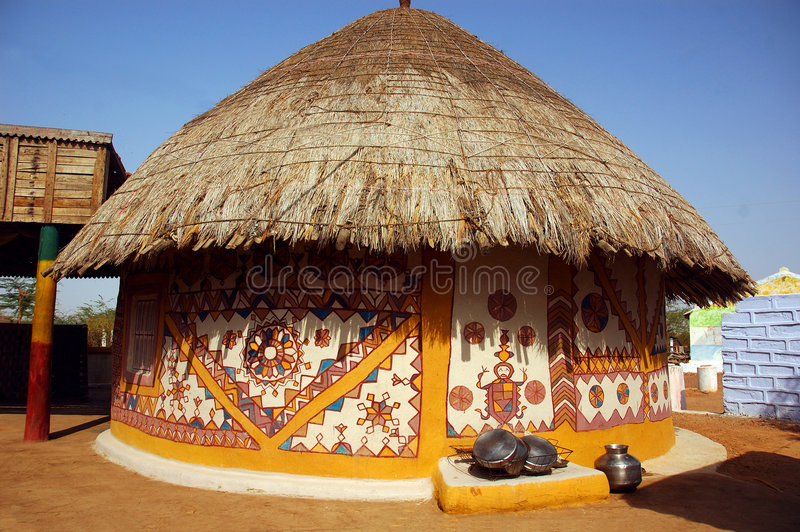 View of a hut. stock photo