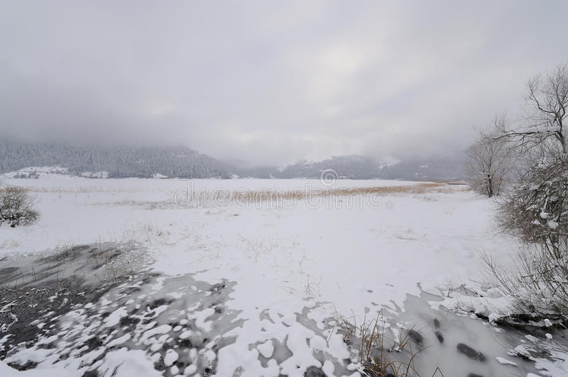Download View of Iced Abant lake stock image. Image of snow, iced - 13271039