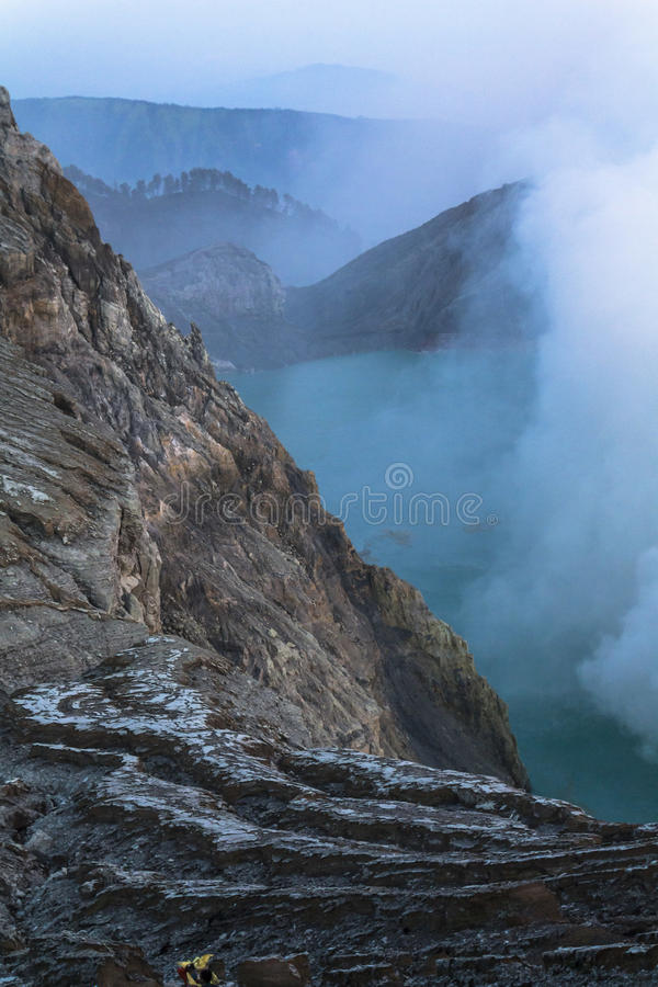 View on the Ijen volcano from above. Java stock images