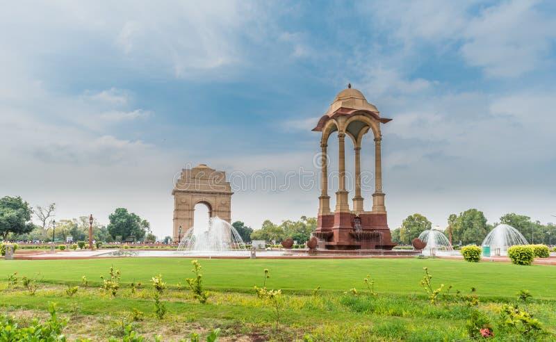 India Gate at New Delhi. View of India Gate, New Delhi, India, a war memorital archictura royalty free stock photos
