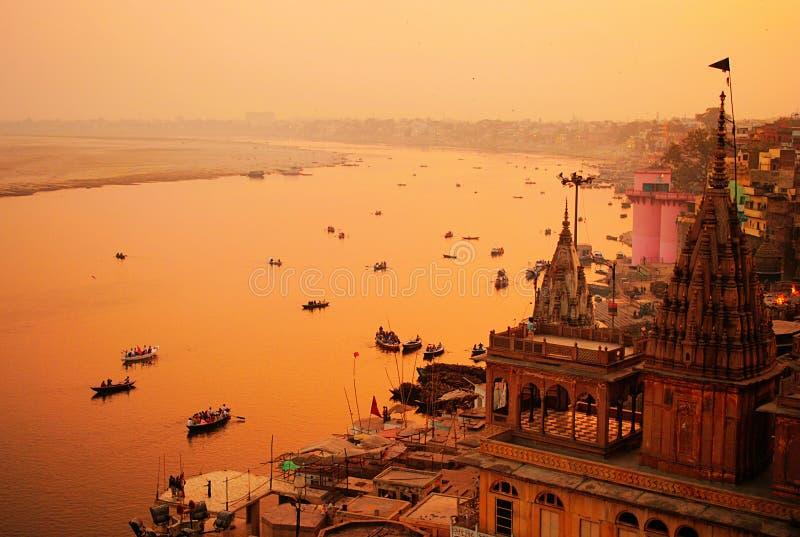 A view of India's cultural capital Varanasi, stock photos