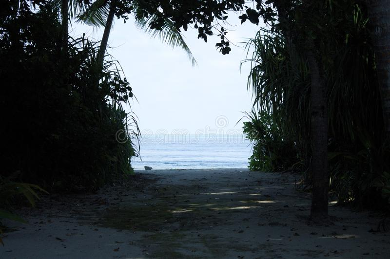 View of the Indian Ocean from a desert island royalty free stock photography