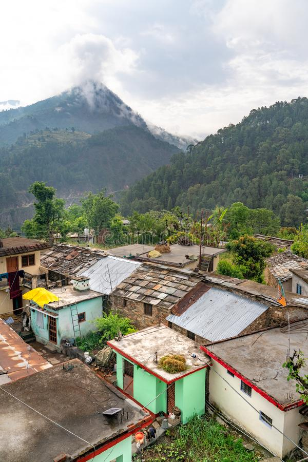 The view of indian remote village royalty free stock photos