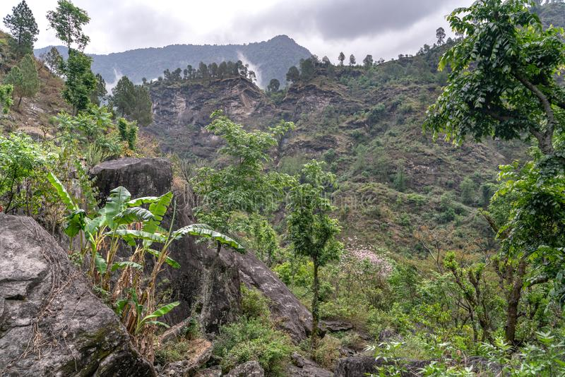 The view from indian remote village royalty free stock images