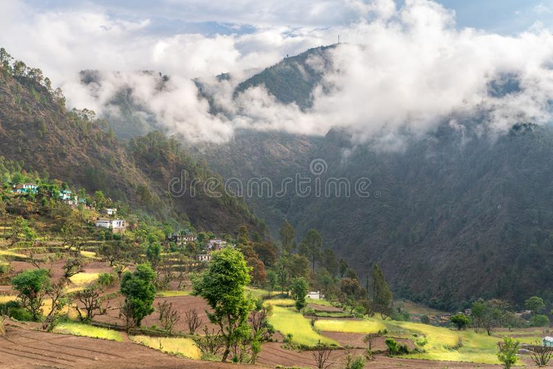 The view of indian remote village royalty free stock image