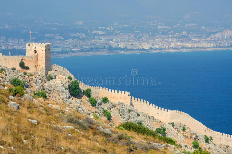 View from the Inner Castle. (Ic Kale), Alanya, Turkey royalty free stock image
