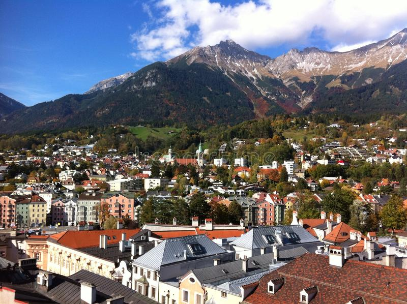 The view of Innsbruck royalty free stock photography