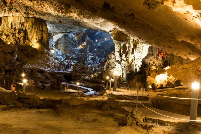 Inside a cave royalty free stock photos