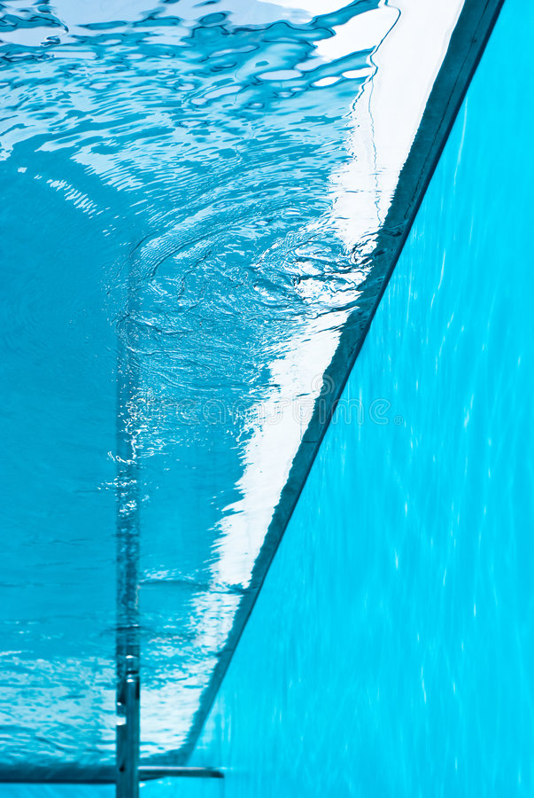 View From Inside Of Swimming Pool Stock Photo Image