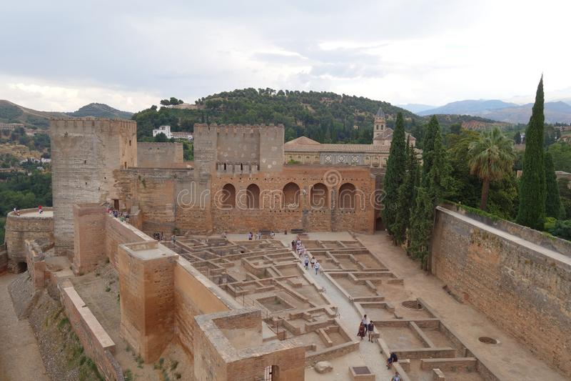 Alhambra at Granada, Spain stock photos