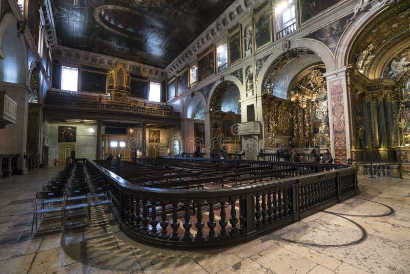 Sao Roque church in Lisbon stock photography