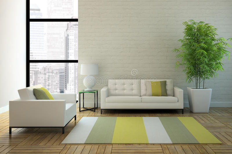 Download View On The Interior In Skyscraper Stock Illustration - Image: 24800667