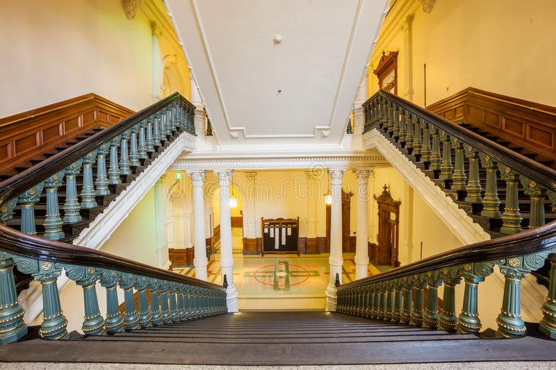 View of the interior of the Texas State Capitol located in downtown Austin royalty free stock image