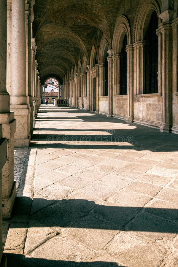 A view of the interior of the upper loggia of the Basilica Palladiana, Vicenza royalty free stock photos