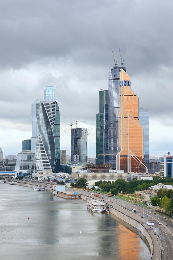View of the international business center `Moscow City` royalty free stock photo